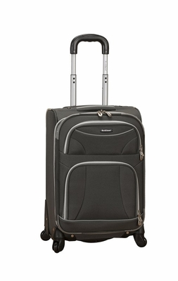 """F181-CHARCOAL 20"""" Spinner Carry On Luggage Set"""