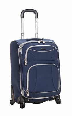 "F181-NAVY 20"" Spinner Carry On Luggage Set"