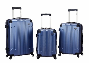 F190-BLUE 3 Pc Sonic Abs Upright Luggage Set