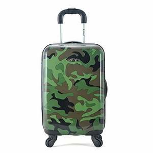"F191-CAMO 20"" Polycarbonate Carry On Luggage Set"