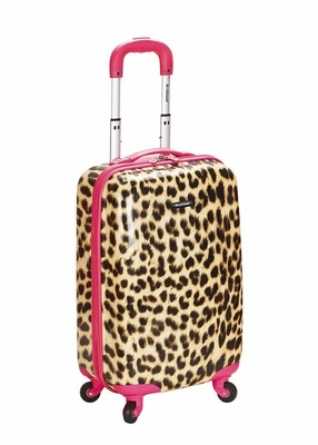"F191-PINKLEOPARD 20"" Polycarbonate Carry On Luggage Set"