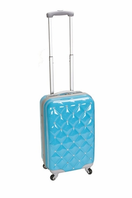 """F221-TURQUOISE Princess 20"""" Polycarbonate Carry On Luggage Set"""