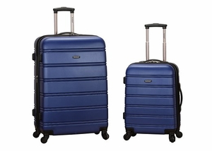"""F225-BLUE 20"""", 28"""" 2Pc Expandable Spinner Luggage Set"""
