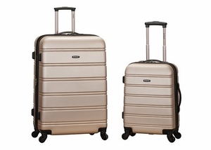 """F225-CHAMPAGNE 20"""", 28"""" 2Pc Expandable Spinner Luggage Set"""
