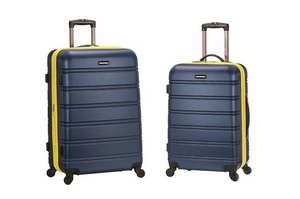 "F225-NAVY 20"", 28"" 2Pc Expandable Spinner Luggage Set"
