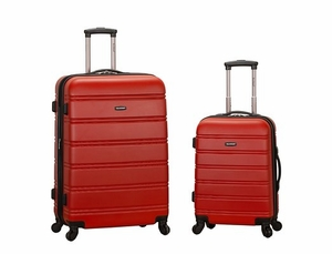 "F225-RED 20"", 28"" 2Pc Expandable Luggage Set"