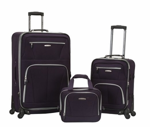 "F228-PURPLE Pasadena 19"", 28"" Expandable Spinner Luggage Set"