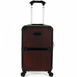 "F2291-WOOD Stage Coach 20"" Rolling Trunk"