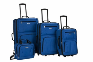 F32-BLUE 4 Pc Luggage Set