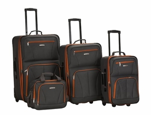 F32-CHARCOAL 4-piece luggage set