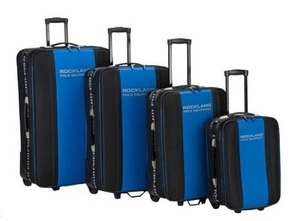 F50-NAVY Rockland Polo Equipment 4-piece luggage set