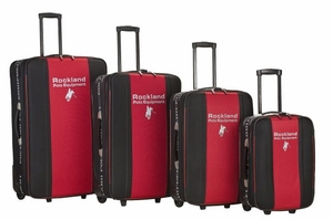 F50-RED 4Pc Rockland Polo Equipment Luggage Set