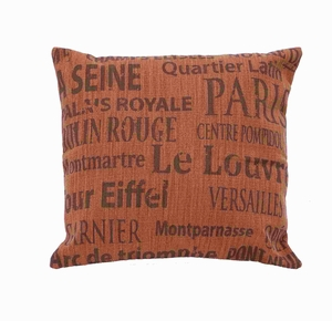 Fabric Pillow With Flush Filling & Elegant Design In Red Shade - 54170 by Benzara