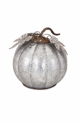 IMAX Fabulous Kellan Galvanized Pumpkin Small