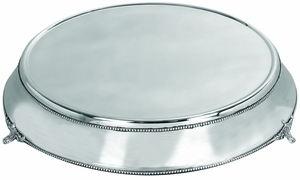 Stainless Steel Cake Plate With Silver Color - 15963 by Benzara