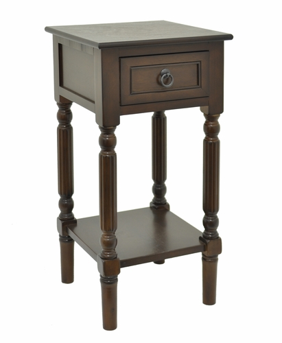 Three hands corp 39770 fabulous wood table 1 drawer for Wild orchid furniture