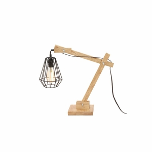 Fabulous Wood Table Lamp with Bulb - 39110 by Benzara
