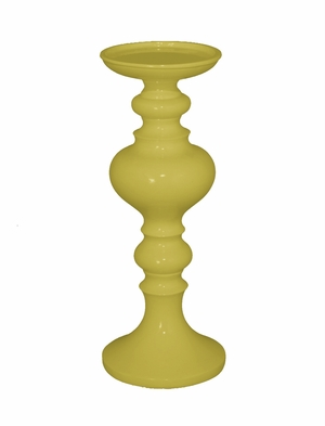 Fabulous Yellow Resin Small Candle Holder by Benzara