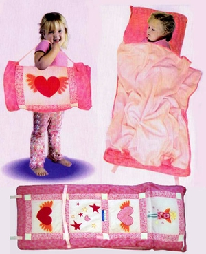 Fairy Princess All In One Kids Nap Roll in Pink by American Hometex