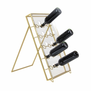 Fancy Metal Acrylic Wine Holder - 84382 by Benzara