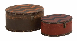 Fantastic Brown Polished Wood Vinyl Box by  Import - 76168 by Benzara