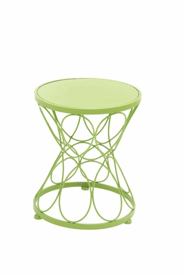 Fantastic Green Polished Metal Green Plant Stand - 28905 by Benzara