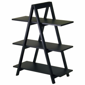 Winsome Wood Fantastic Unique Styled A-Frame 3-Tier Shelf