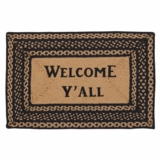 Farmhouse Jute Rug Rect Stencil Welcome Y'all 20x30