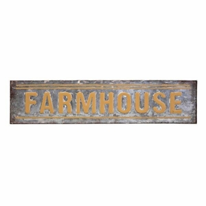 Farmhouse Sign - Gray - Benzara