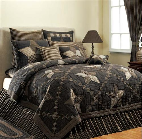 VHC Brands 9835 Farmhouse Star Quilt Luxury King Size – Makes The ... : quilt for king size bed - Adamdwight.com
