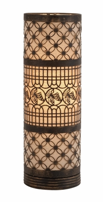 Fascinating Classy Styled Metal Cylinder Table Lamp - 51059 by Benzara