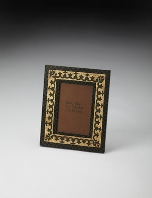 Fascinating Hand Painted 4 X 6 Picture Frame by Butler Specialty