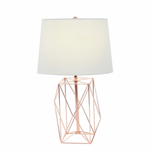 Fascinating Metal Copper Wire Table Lamp - 58662 by Benzara