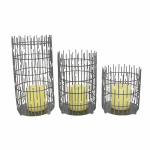 Fascinating Metal Wire Candle Holder, Set Of 2 - 68980 by Benzara