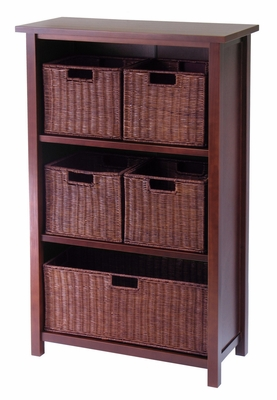 Winsome Wood Winsome Wood Fascinating & Perfectly Milan 6pc Designed Storage Shelf