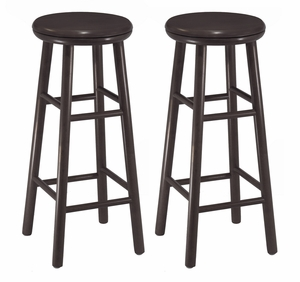 """Fascinating Set Of Two 30"""" Swivel Bar Stool by Winsome Woods"""