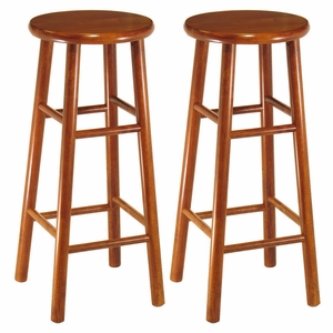 "Fascinating Smart Styled Set of 2, Beveled 30"" Seat Stool by Winsome Woods"