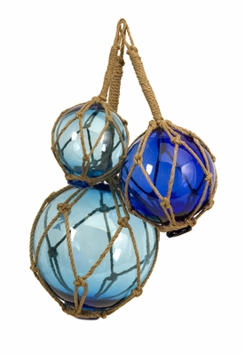 Fascinating Styled Buoyant Glass Floats - Set of 3 by IMAX