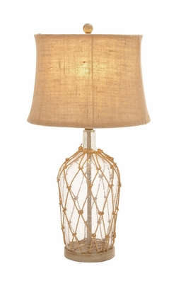 Fascinating Unique Styled Glass Metal Rotable Lamp - 97374 by Benzara