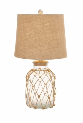 Fascinating Unique Styled Glass Rotable Lamp - 97375 by Benzara