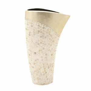 Fashionable Ceramic Shell Vase - 50627 by Benzara