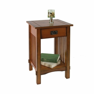 Felix Contemporary Oak Finish End Table