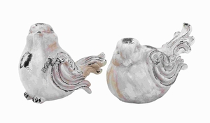 Set Of 2 Garden Bird With Antique Appearance - 20933 by Benzara