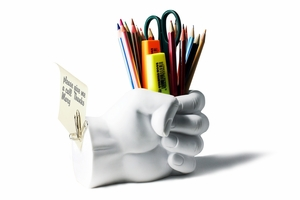 """""""FIST"""" Pen Holder with Paper Clip Magnet by Danya B"""