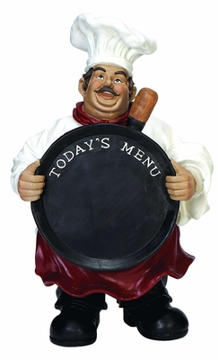 Polystone Chef Chalk Board To Feel Yourself At Royal Reception - 35538 by Benzara