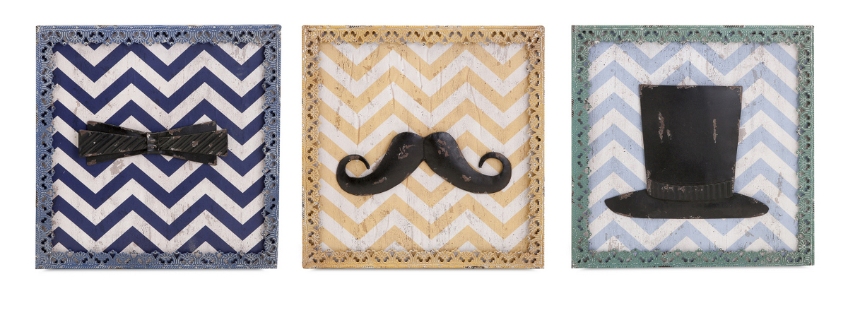 Buy funky herbert wall d cor assorted 3 pc at for Funky wall art