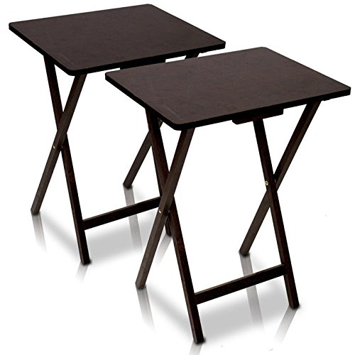 Buy Furinno 12081EX Folding TV Tray Table 2 PC Set Espresso at wildorchidquilts net