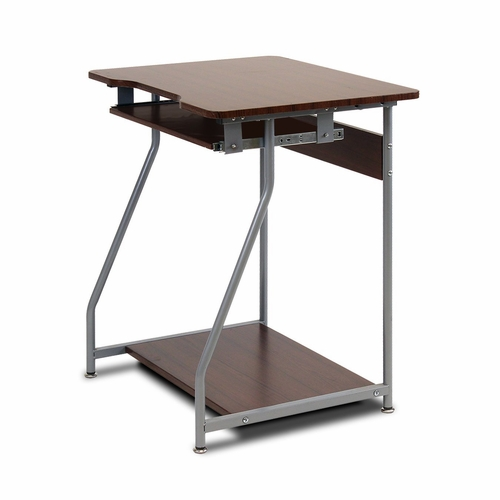Buy furinno besi office computer desk dark wood grain at for Wild orchid furniture