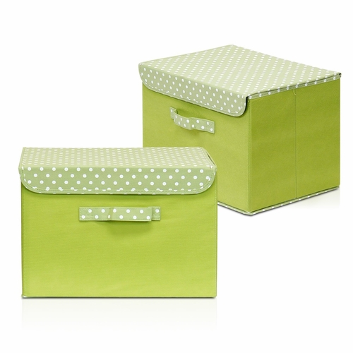 buy furinno non woven fabric soft storage organizer with lid set of 2 green at. Black Bedroom Furniture Sets. Home Design Ideas