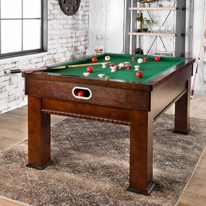 Cherry Finish Bumper Pool Table Set